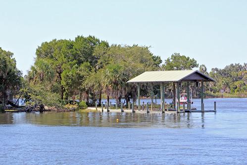 river water dock slip crystalriver florida unitedstates