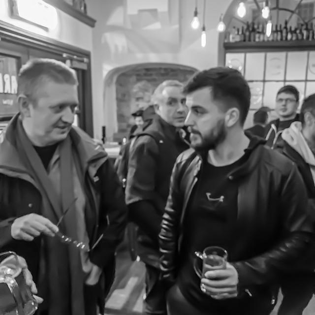 Stuart and Phil in the pub