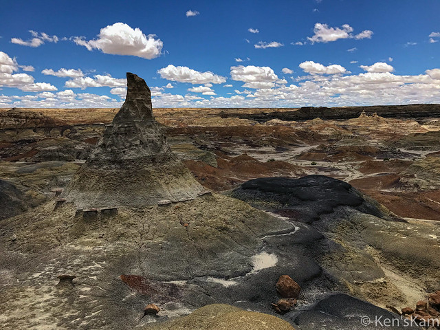 Wizard's Hat, Bisti Wilderness, New Mexico, iPhone Photo