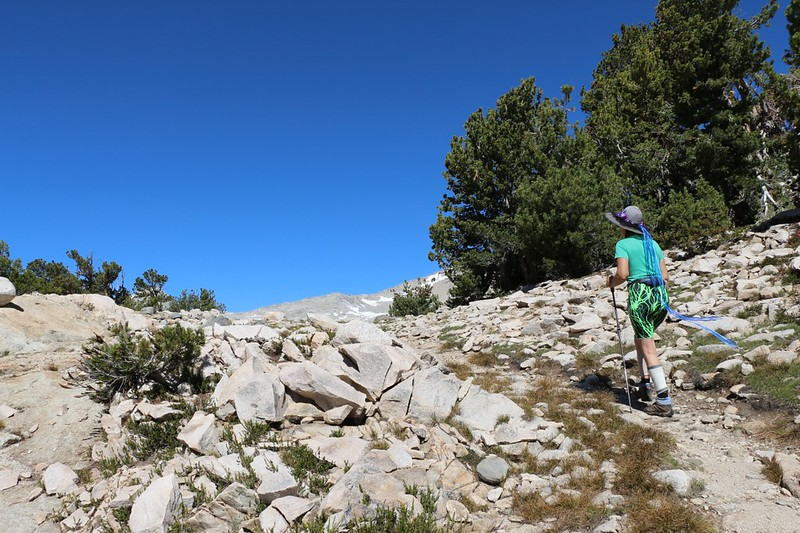 Cresting the pass on the 60 Lakes Trail - our goal today was to check out the 60 Lakes Basin