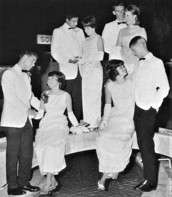 Students with their dates after the Prom at Salpointe High School in 1966 Tucson, AZ