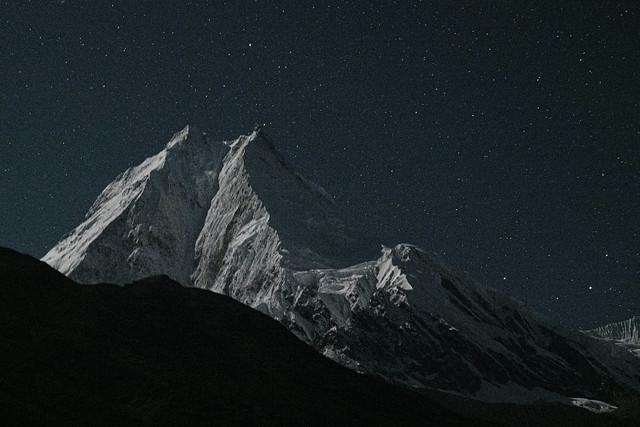 Manaslu at night