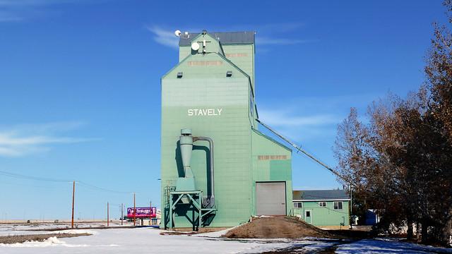 Grain elevator.            Stavely Alberta.