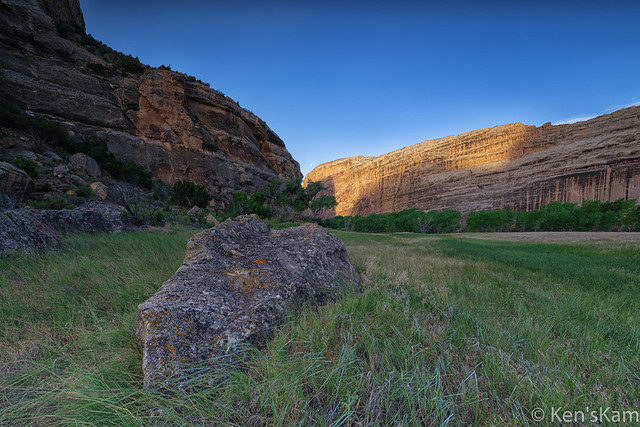 Echo Park Sunrise, Moonset, Dinosaur National Monument