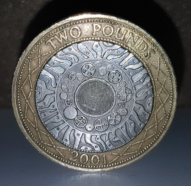 Two Pound Coin - Metallic Tones