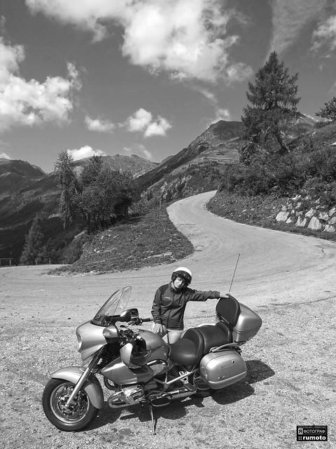 BMW R 1200 CL Sölkpass motorcycle trip Styria Austria (c) 2019 Берни Эггерян :: rumoto images 5882 bw