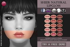 Sheer Natural Lipgloss (for FLF)
