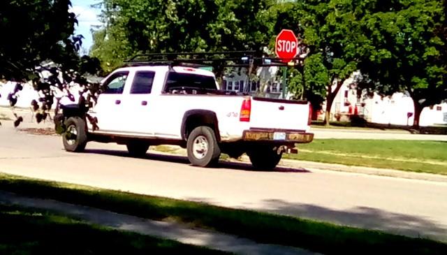 White pickup truck! - HTT Menominee Michigan