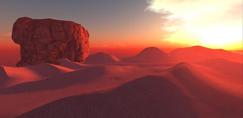 Sunrise on The Sand Seas