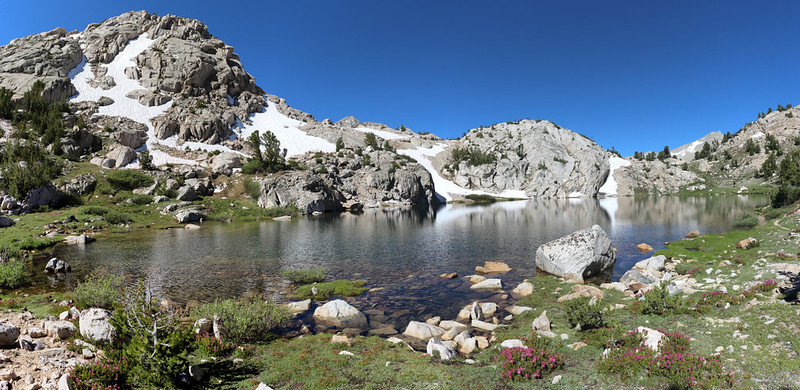 Unnamed Lake just below the 11200 foot pass on the 60 Lakes Trail