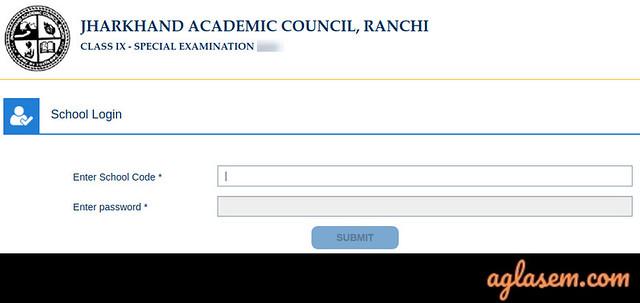 JAC 9th special exam result Login