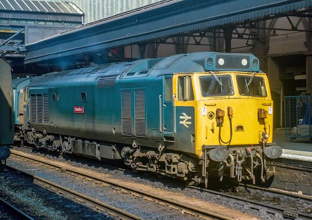 English Electric Class 50 50048 'Dauntless' at Exeter St.Davids 1978