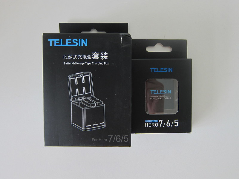 Telesin 3-Channel Charging Box With Batteries For GoPro Hero 7 - Packaging