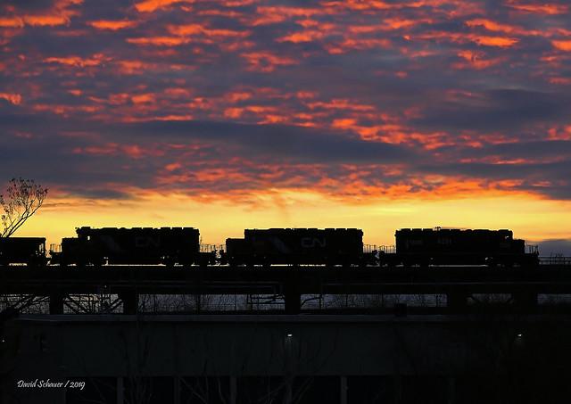 Ore Dock Sunset