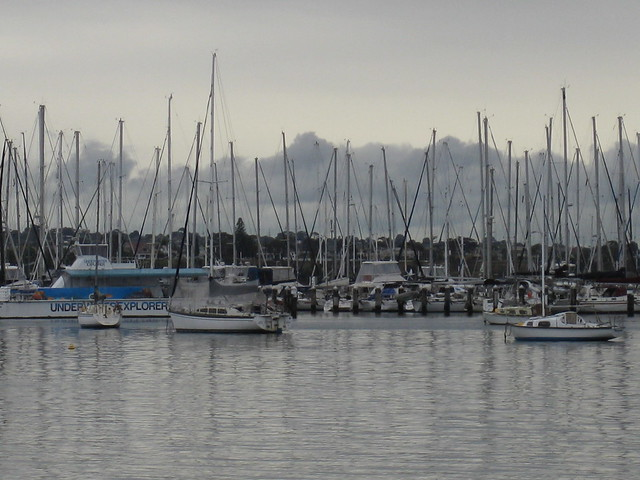 Yachts at Rest in the Geelong Yacht Club Marina - Geelong Waterfront Esplanade
