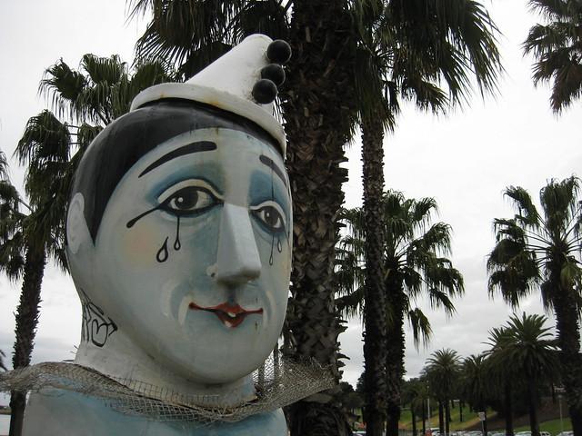 The Pierrot Bollard - Geelong Waterfront Esplanade
