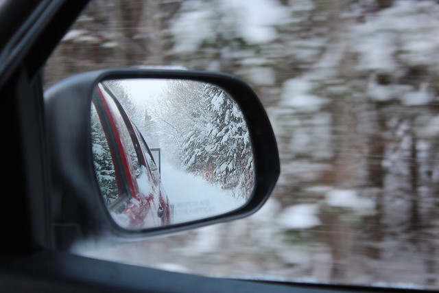 Flakes in mirror are more numerous than they appear