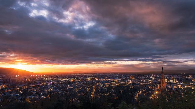 Freiburg im Abendlicht
