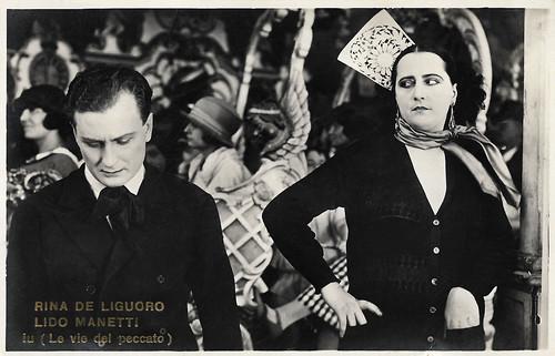 Rina de Liguoro and Lido Manetti in La via del peccato (1925)