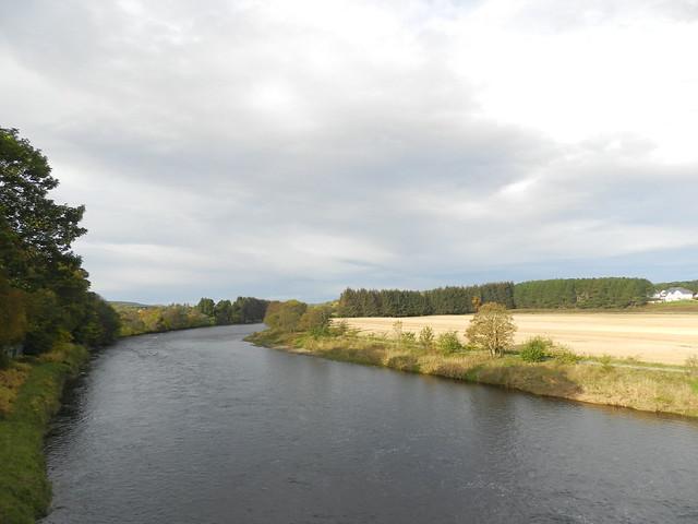 River Dee from Durris Bridge, near Crathes, Aberdeenshire, Oct 2019