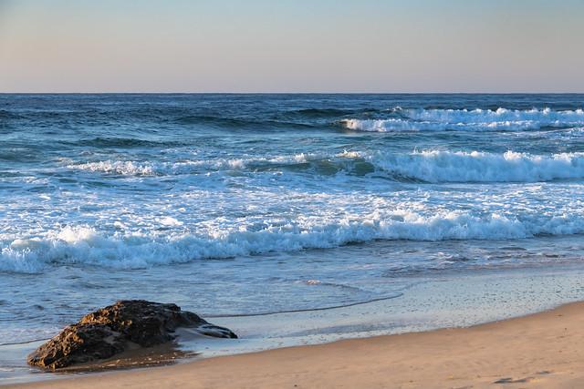 Early Morning Beach Sunrise Seascape