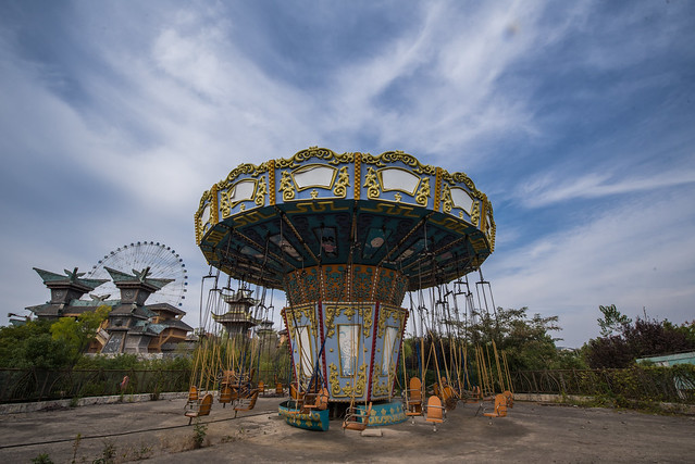 Carousel in an Abandoned Theme Park in China (Explored #7)