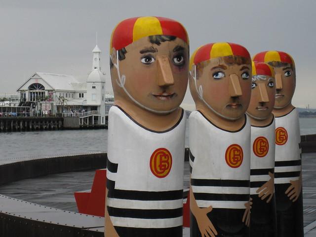 The Geelong Baths Swimming Club Bollards - Geelong Waterfront Esplanade