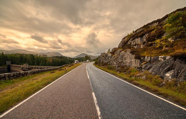 A86 visiting the Laggan Dam, Scotland.