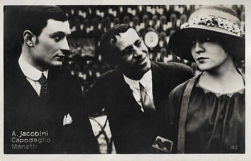 Lido Manetti, Ruggero Capodaglio and Maria Jacobini in Addio giovinezza (1918)