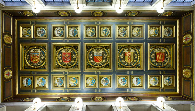 Manchester Central Library Entrance Ceiling