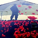 Full Remembrance Day mural in Preston