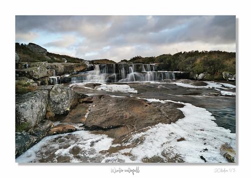 Winter Glencoe waterfall framed