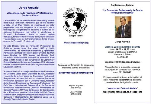 FP y la 4ª Revolución Industrial con Jorge Arévalo en el Grupo Vasco del Club de Roma