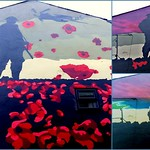 Completing the Remembrance Day mural in Preston