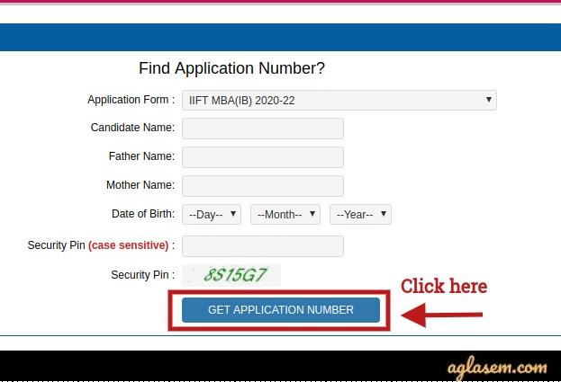 IIFT 2020 Find Application Number