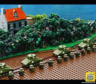 Micro Lego ww2 US troop in Normandy