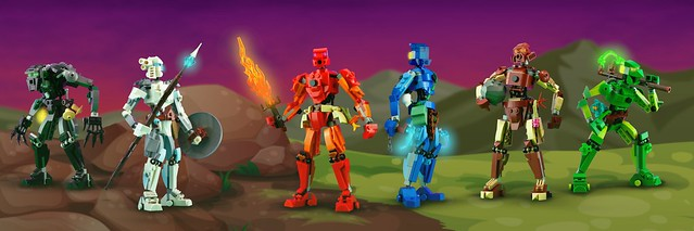 LEGO Bionicle brick-built versions
