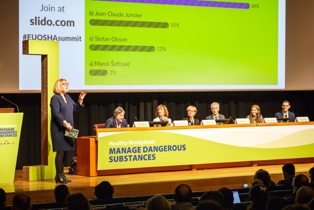 "15/11/2019 - 14:45 - On 12 and 13 November 2019 in Bilbao, the event brought together leading European experts and decision makers to discuss the results of the 2-year campaign ""Healthy Workplaces Manage Dangerous Substances"".  photo: © EU-OSHA / Fernando Aramburu Garrido"
