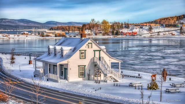 Maison Horatio Le Bouthillier au site du Berceau du Canada à Gaspé