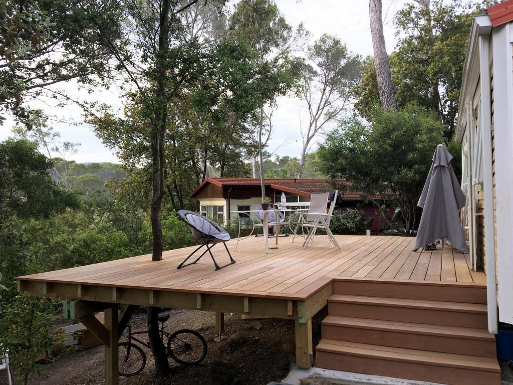 Terrasse Surélevée En Acier terrasse surélevée 25m2 sur poteau 120x120mm - deck-linéa