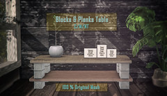 crate Blocks & Planks Table for The Saturday Sale