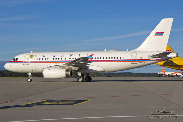 701 . Airbus A319-132 CJ . Armenia Government . Geneva International Airport [GVA/LSGG]