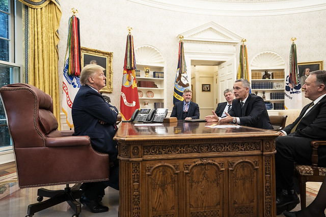 President Trump Visits with the Secretary General of the North Atlantic Treaty Organization (NATO)