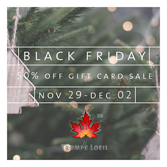Trompe Loeil Black Friday Gift Card Sale Nov 29 - Dec 2