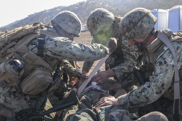 NMCB-3 takes part in a field training exercise.