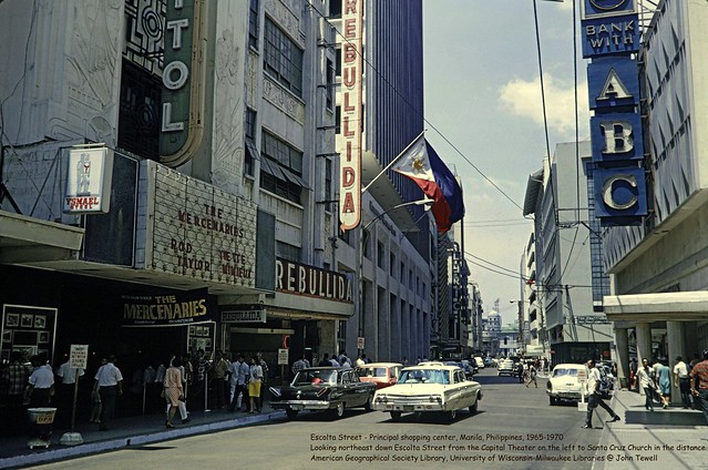 Escolta Street - Principal shopping center, Manila, Philippines, 1965-1970