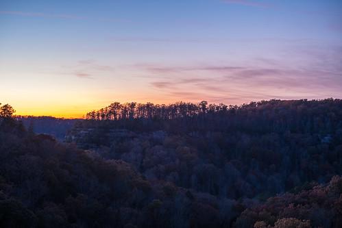 kentucky naturalbridgescenicarea autumnleaves bluehour fallfoliage sunset choices contemplation dusk