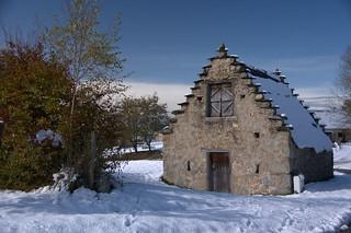Première neige à Cominac (Ariège)