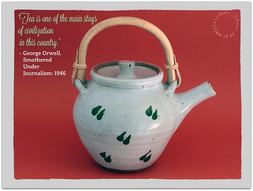 Leach Pottery Teapot - Orwell Quote