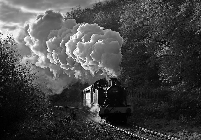 Steam in Black and White.